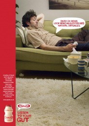 Yakult: Couch Print Ad by Euro Rscg London