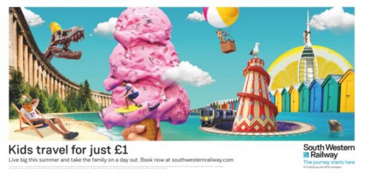 South Western Railway: Live Big, 2 Print Ad by WCRS