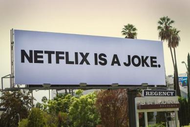 Netflix: Netflix is a Joke Outdoor Advert by Battery USA, Caviar