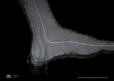 Hyundai: Foot Print Ad by 4am Saatchi & Saatchi Honduras