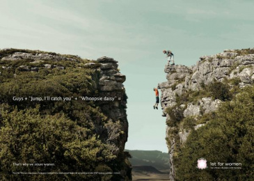 1st For Women Insurance Brokers: Cliff Print Ad by Black River F.C. Johannesburg