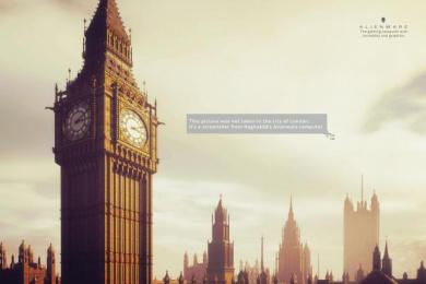 Dell AlienWare: Alienware Screenshot London Print Ad by Y&R Miami