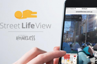 Sydney Homeless Connect: Street Life View Digital Advert by Clemenger BBDO Sydney