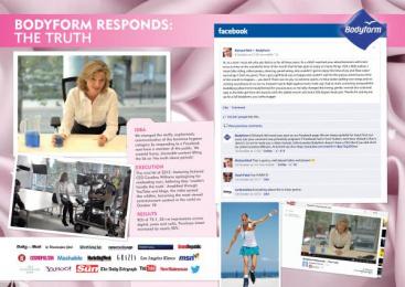 Bodyform: THE TRUTH Promo / PR Ad by Carat London
