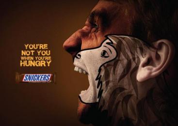 Snickers: Animal - Man Print Ad by Y&R Dubai
