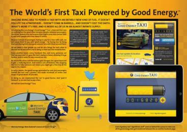 Mercury Energy: Good Energy Taxi Digital Advert by Digital Arts Network Auckland, Kontent Films