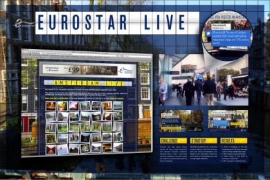Eurostar: EUROSTAR LIVE Outdoor Advert by Arena London, The Cloud And Compass