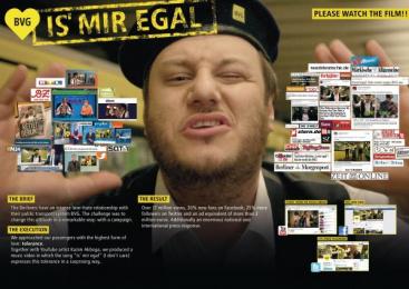 Bvg Berliner Verkehrsbetriebe: Is' Mir Egal [image] Case study by Jung Von Matt/Alster Hamburg, Stereo Films Medienproduktion