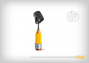 Pencils of Promise: Pencil, 1 Print Ad by Labstore, Madrid
