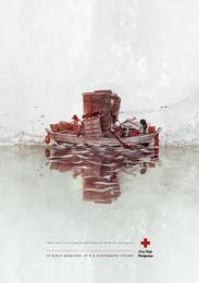 Red Cross: Boat Print Ad by Verde Asunción