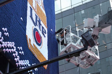 Miller Lite: Miller Lite Ugly Holiday Sweater Ooh, 3 Outdoor Advert by J. Walter Thompson New York, MMT, TBWA\Chiat\Day Los Angeles
