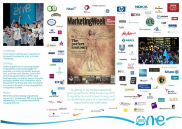 GLOBAL YOUTH SUMMIT: ONE YOUNG WORLD Promo / PR Ad by Euro Rscg New York