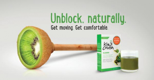 Kiwi Crush: Unblock Naturally Print Ad by KingSt Advertising