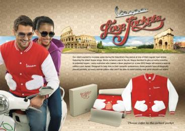Vespa: LOVE JACKETS Direct marketing by Y&R Kuala Lumpur