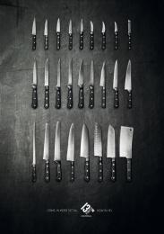 13eme Rue (13th Street): Knives Print Ad by Sra Rushmore