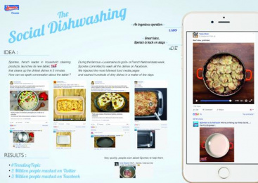 Mapa Spontex: The Social Dishwashing [image] Digital Advert by Fred & Farid Paris