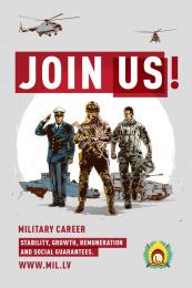Latvijas armija: Join Us, 1 Print Ad by Tribe