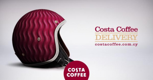Costa Coffee: Delivery Outdoor Advert by Marketway Nicosia