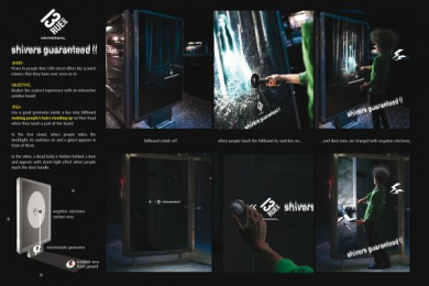 13eme Rue (13th Street): Shivers guaranteed Outdoor Advert by Deslegan/BBDO France, Nickandjack