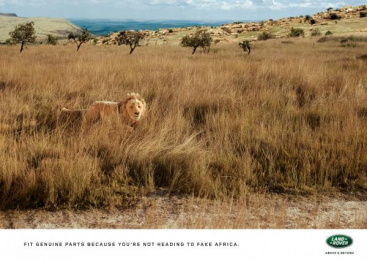 Land Rover: Lion Print Ad by Publicis Machine Johannesburg