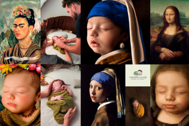 Os Bebês da Lhais - Newborn Photography: Your baby is a work of art, 5 Print Ad by Tuppi