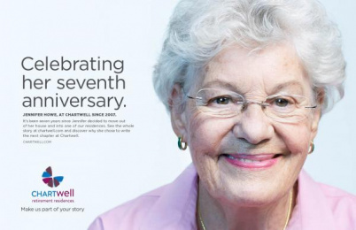 Chartwell Retirement Residences: Make us part of your story- Jennifer Howe Print Ad by Lowe@Alfred Amsterdam