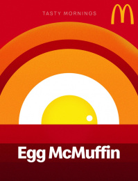 McDonald's: Tasty Mornings - Egg McMuffin Print Ad by Fortune Promoseven Dubai