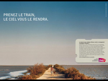 "Sncf: ""Take the train"" Print Ad by TBWA Paris"