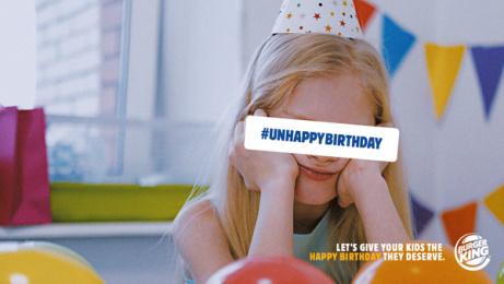 Burger King: Unhappy Birthday, 3 Print Ad by DAVID Madrid