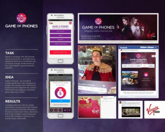Virgin Mobile: GAME OF PHONES Case study by One Green Bean Sydney