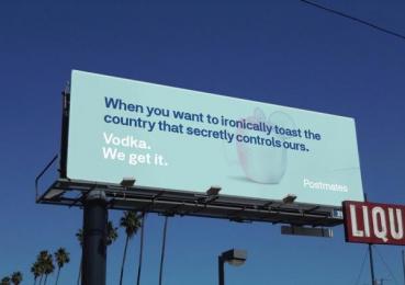 Postmates: We Get It - Vodka Outdoor Advert by 180 LA