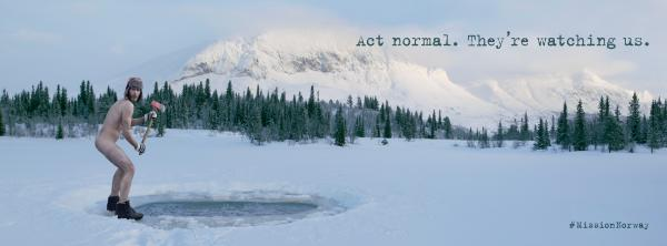 Telenor: Ice lake Print Ad by Green Cave People
