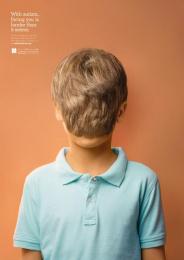 Amena Autism Center: Boy Print Ad by Y&R Amman