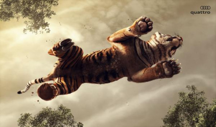 Audi: Tiger Print Ad by Tribal Worldwide Istanbul