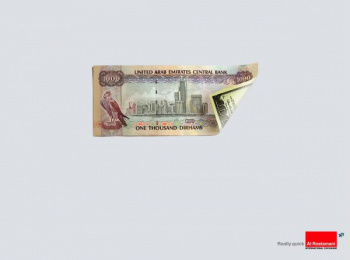 Currency Exchange And Remittances: REALLY QUICK Print Ad by The Classic Partnership Advertising Dubai