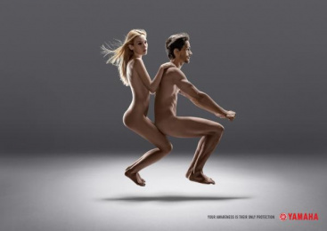Yamaha: Couple Print Ad by Archer Troy Mexico, Revolver