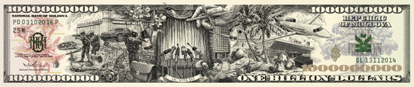 Tv8: Banknote of the Stollen Billion, 1 Print Ad by Piko