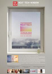 Uniqlo: Heat Tech Window [image] 2 Outdoor Advert by Cheil Seoul, Junpasang Production Seoul