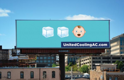 United Heating & Cooling: Ice Ice Baby Outdoor Advert by Trozzolo Kansas City
