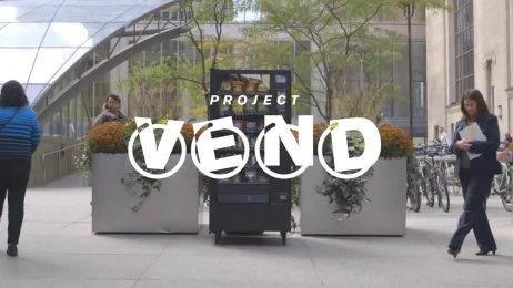 Taxi: Project Vend Ambient Advert by Taxi Canada