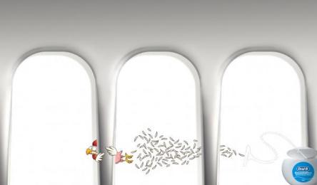 Oral-b: Flying Chicken Print Ad by Simulador de Vuelo Mexico City