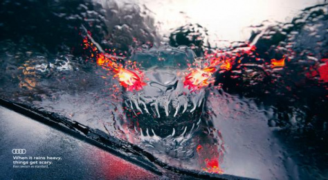 Audi: Rain - Monsters, 1 Print Ad by Tribal Worldwide Istanbul