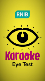The Royal National Institute of Blind People (RNIB): Karaoke Eye Test Print Ad by CHI & Partners London, MPC