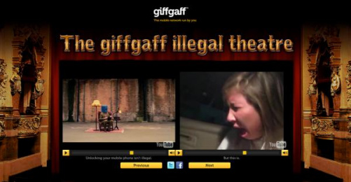 Giffgaff: The giffgaff illegal theatre Digital Advert by Albion London, Mind's Eye