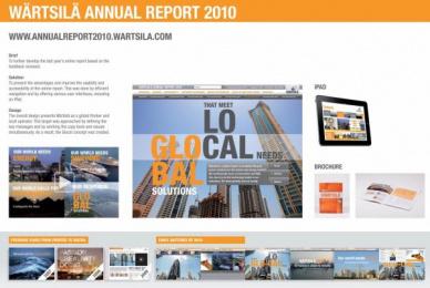 Wartsila: WÄRTSILÄ ANNUAL REPORT 2010 Design & Branding by Crasman, Miltton Creative Helsinki Finland