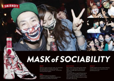 Smirnoff Ice: Mask Of Sociability Direct marketing by Beacon Communications Tokyo