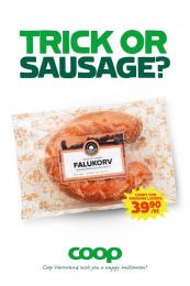 Coop Varmland: Trick or sausage? Print Ad by ORD&BILD