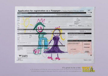 Toy Kingdom: Tax Form Print Ad by Canvas Cape Town
