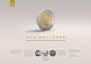 Child Focus: Coins Of Hope [image] 4 Design & Branding by These Days Y&R Antwerpen