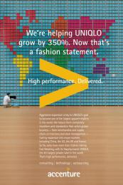 Accenture: Uniqlo Print Ad by Accenture, TBWA\Chiat\Day USA